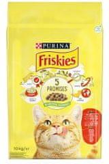 Friskies karma dla kota Cat z wołowiną, kurczakiem i warzywami, 10 kg