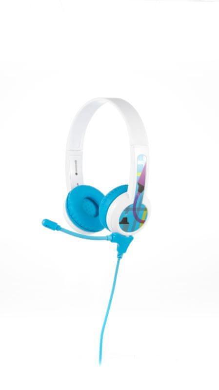 BuddyPhones StudyBuddy - dětská sluchátka s mikrofonem, modrá