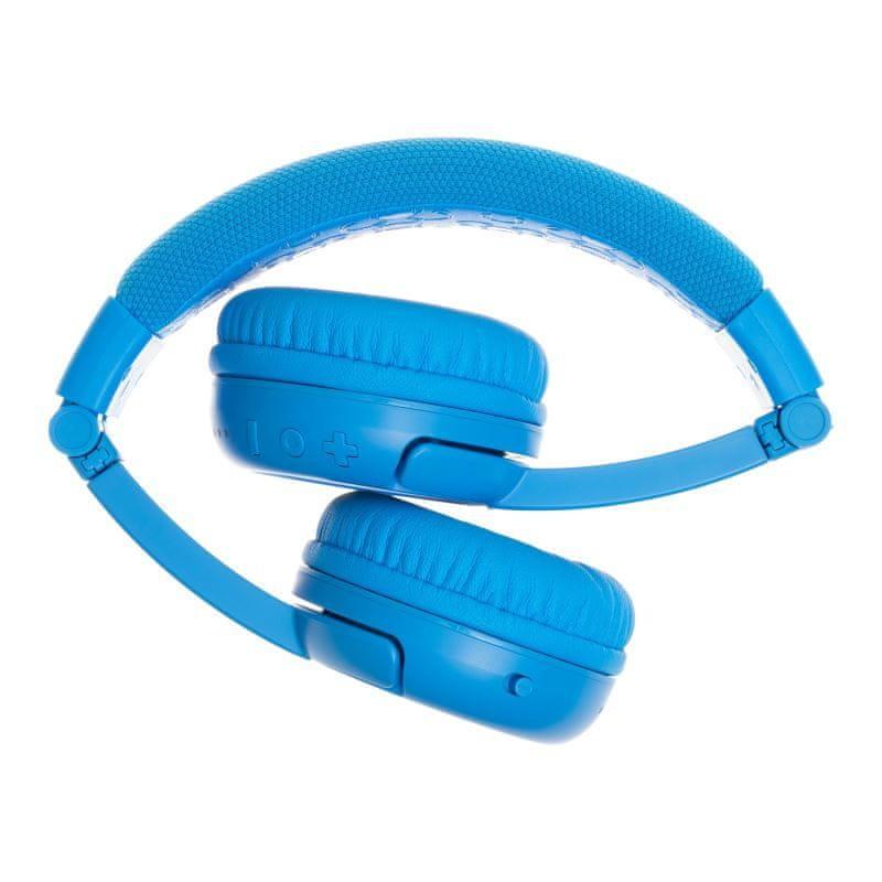 BuddyPhones Play+ dětská bluetooth sluchátka s mikrofonem, světle modrá