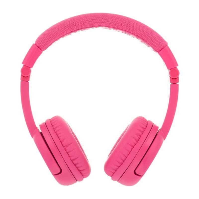 BuddyPhones Play+ dětská bluetooth sluchátka s mikrofonem, růžová