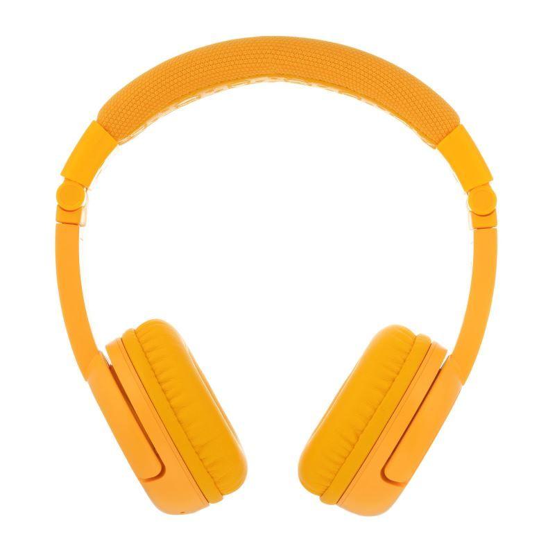 BuddyPhones Play+ dětská bluetooth sluchátka s mikrofonem, žlutá