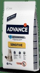 ADVANCE Cat Adult losos a ryža Sensitive 10 kg