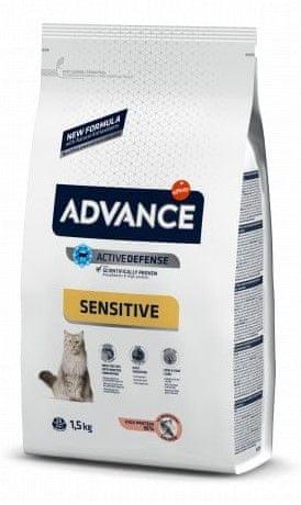 ADVANCE Cat Adult losos a ryža Sensitive 1,5 kg