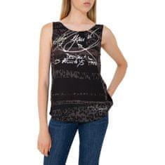 Desigual Tričko Woman Knitted Sleeveless T-Shirt M