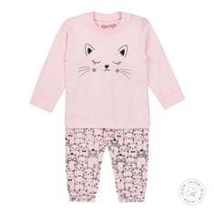 Dirkje dívčí pyžamo - kočičky WDB0502 50/56 růžová
