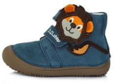 D-D-step chlapecká barefoot kožená kotníčková obuv A063-661 26 tmavě modrá