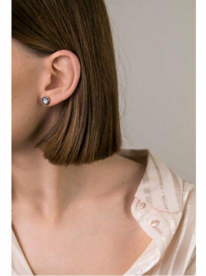 VictoriaWallsNY Acél fülbevalók gyöngyház díszítéssel VE1099S