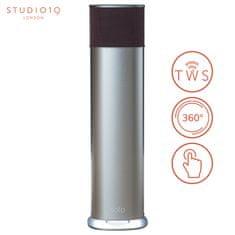 Studio19 SOLO E500X-T, Bluetooth Hi-Fi zvočnik, vgrajena baterija, 360°, Alu srebrn