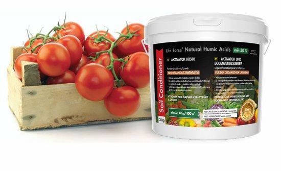 Life Force Natural Humic Acids pro organické zemědělství, organické hnojivo a aktivátor půdy, zvláště vhodné i pro pokojové rostliny. Akční set 2 x 3 Kg