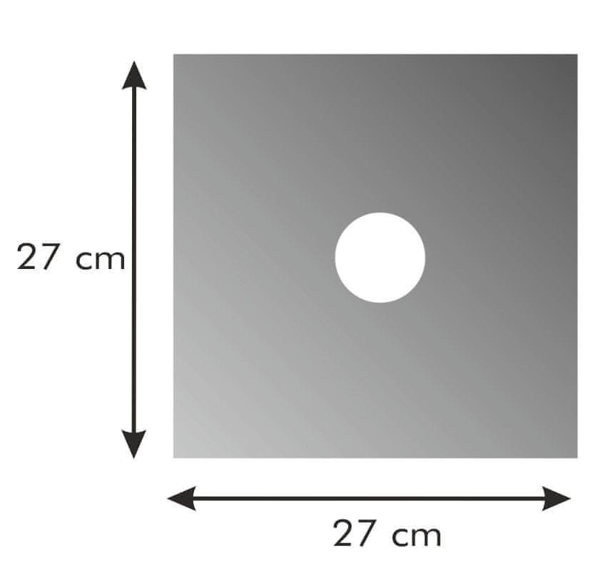 Tescoma Ochranná podložka na plynové sporáky PRESTO 27 x 27 cm 4 ks
