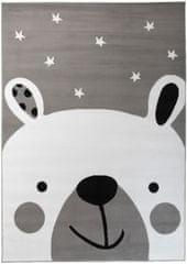 Chemex Koberec Pinky Dětské Módní Q163A Y Ewl Bílá Černá Šedá 80x150 cm