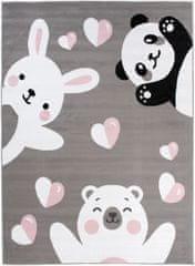 Chemex Koberec Pinky Dětské Módní De78A Y Ewl Bílá Růžová Černá Šedá 80x150 cm