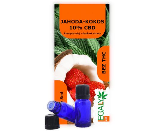 Legally420 Jahoda-Kokos olej 10% CBD, 5 ml