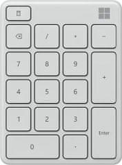 Microsoft numerická klávesnica, biela (23O-00025)