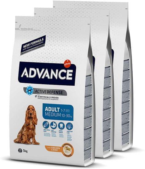 ADVANCE Dog MEDIUM Adult hrana za odrasle pse srednjih pasmina, 3 kg