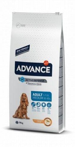 ADVANCE Dog MEDIUM Light pseća hrana za odrasle pse srednjih pasmina s prekomjerenom težinom, 12 kg