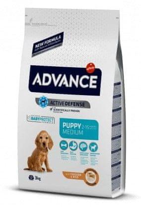 ADVANCE Dog MEDIUM Puppy Protect pasja hrana za mladičke in breje samičke, 3 kg