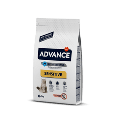 ADVANCE Cat Adult losos a ryža Sensitive 3 kg