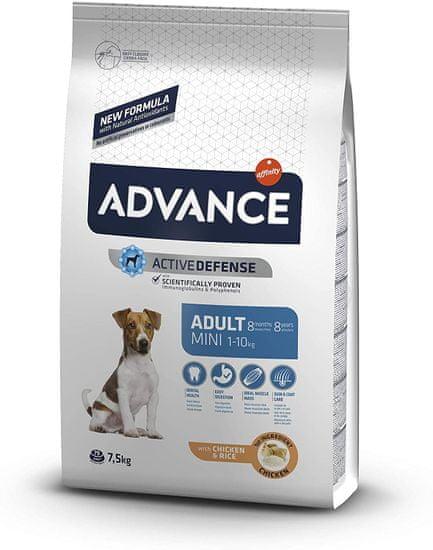 ADVANCE Dog MINI Adult hrana za odrasle pse manjih pasmina, 7,5 kg