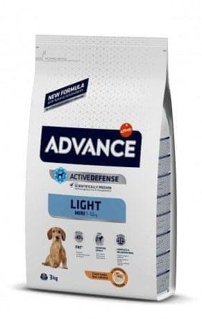 ADVANCE Dog MINI Light pseća hrana za odrasle pse srednjih pasmina s prekomjerenom težinom, 3 kg