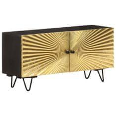 shumee tömör mangófa TV-szekrény 90 x 30 x 45 cm
