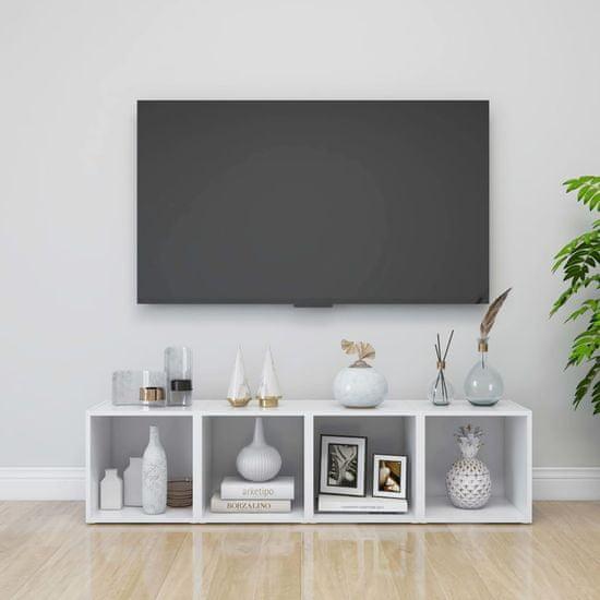 shumee fehér forgácslap TV-szekrény 37 x 35 x 37 cm