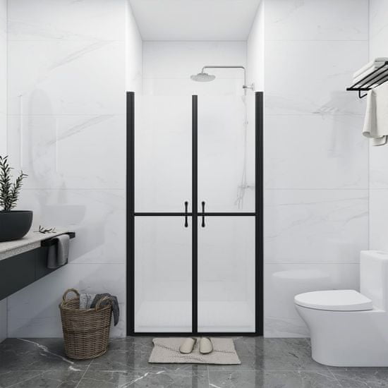 shumee Vrata za tuš mlečna ESG (83-86)x190 cm