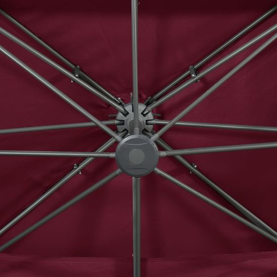 shumee bordó dupla tetejű konzolos napernyő 400 x 300 cm