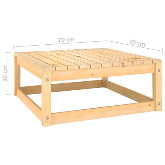 shumee 6-cz. zestaw wypoczynkowy do ogrodu, lite drewno sosnowe