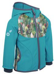 Unuo kurtka dziecięca softshell z polarem Magiczne drzewa 146/152 niebieska