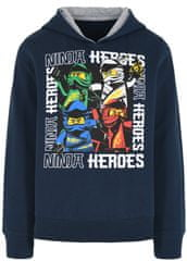 LEGO Wear chlapecká mikina Ninjago LW-12010225 tmavě modrá 104