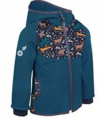 Unuo kurtka dziecięca softshell z polarem Zwierzęta nocne 146/152 ciemnoniebieska