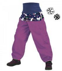 Unuo dekliške softshell hlače z grelniki, samorog, 80/86, vijolične