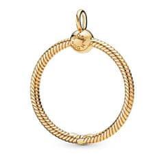 Pandora Aranyozott nyaklánc gyöngyökkel Shine 368735C00/368736C00 (Átmérő 3,5 cm)