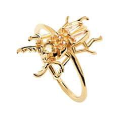 PDPAOLA COURAGE Beetle AN01-375 eredeti aranyozott ezüstgyűrű (Kerület 54 mm) ezüst 925/1000