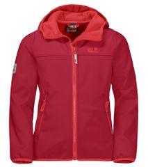 Jack Wolfskin dziecięca kurta softshell Fourwinds Jacket 1608011_2210 104 czerwona
