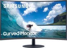 Samsung C24T550FDUXEN monitor, 59,69 cm (23,5),VA, ukrivljen 1000R, 16:9, 1920x1080, HDMI, DP, gaming