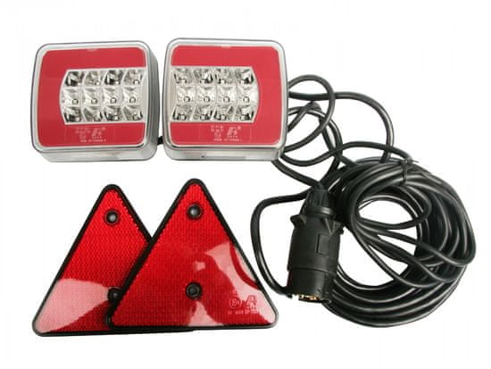 MULTIPA Elektrokabeláž k vleku, sada LED magnetického osvetlenie s kabelážou 7-pin / 7,5 m, MULTIPA