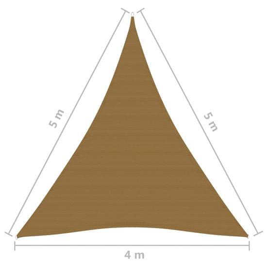 shumee Żagiel przeciwsłoneczny, 160 g/m², kolor taupe, 4x5x5 m, HDPE