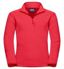 Jack Wolfskin 1605553_2058 Gecko dekliški pulover iz flisa, rdeč, 140
