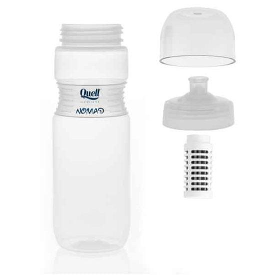 quell Fľaša na filtrovanie vody Nomad 700ml - biela