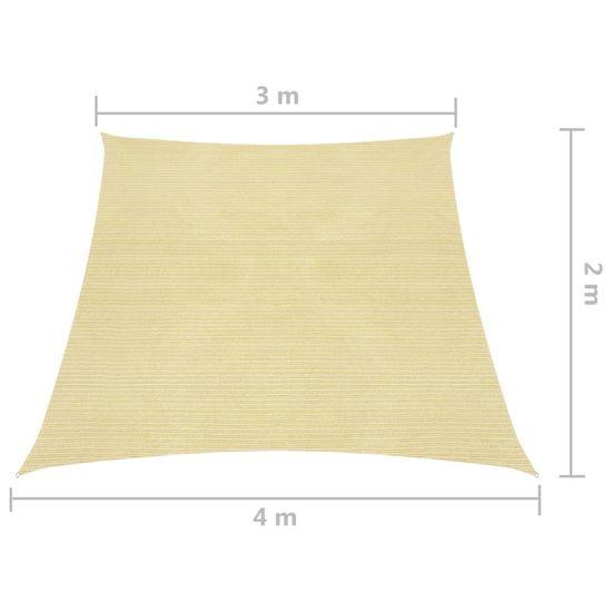 shumee Żagiel przeciwsłoneczny, 160 g/m², beżowy, 3/4x2 m, HDPE