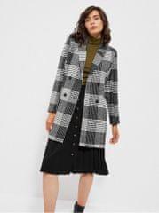 Moodo šedý dámský kostkovaný kabát XL