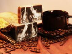 L´Cosmetics Prírodné ručne robené mydlo bez SLS - Mliečna káva s bielym ílom a dreveným uhlím 100g +/-6%