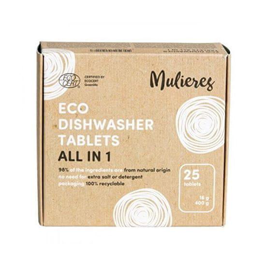 Mulieres Tablety do umývačky - všetko v jednom BIO 25 ks