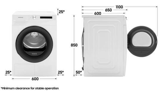 Samsung sušička prádla DV90T5240AX/S7 + 10 let na invertorový motor