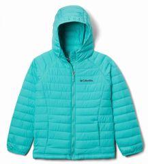 Columbia dívčí zimní bunda Powder Lite 1802931356 XS světle modrá