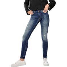 ONLY Dámské skinny džíny ONLCARMEN 15182398 Dark Blue Denim (Velikost 25/32)