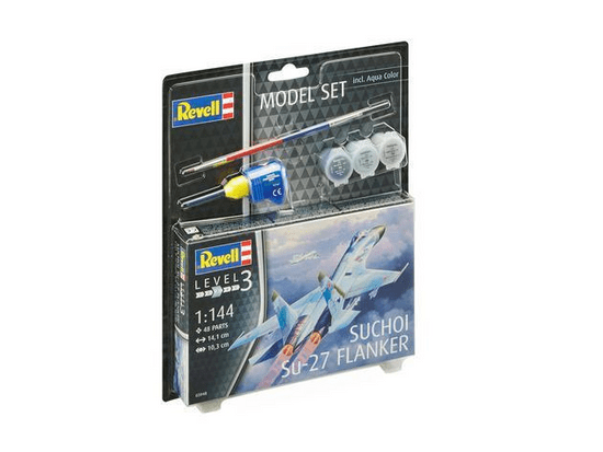 Revell Suchoi Su-27 Flanker model borbenog aviona, set za sastavljanje, 1:144