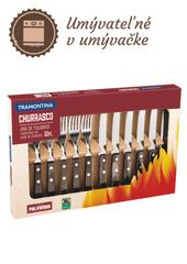 Tramontina BBQ príborový set 12ks hnedý POLYWOOD